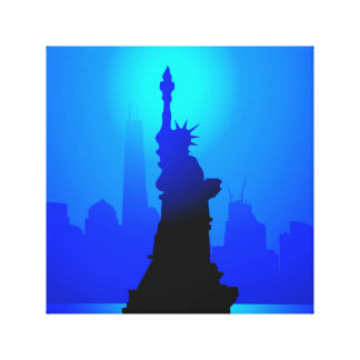Statue of Liberty, New York at Night Canvas Print