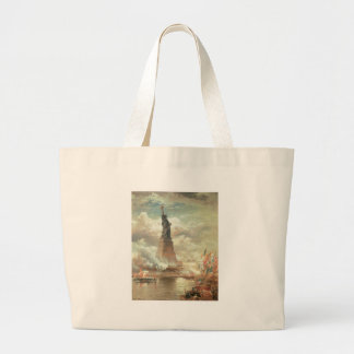 Statue of Liberty, New York circa 1800's Large Tote Bag
