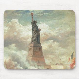 Statue of Liberty, New York circa 1800's Mousepad