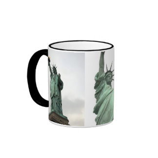 Statue of Liberty New York City 3 Photos Ringer Mug