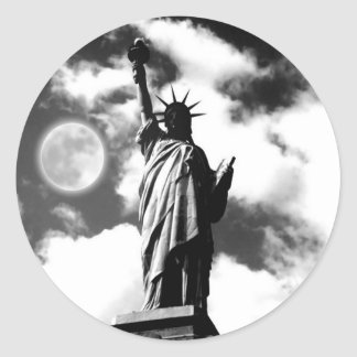 Statue of Liberty New York City Classic Round Sticker