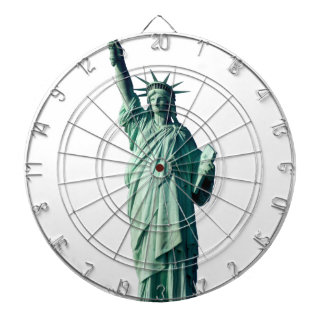 Statue of Liberty New York City NYC Dartboard With Darts