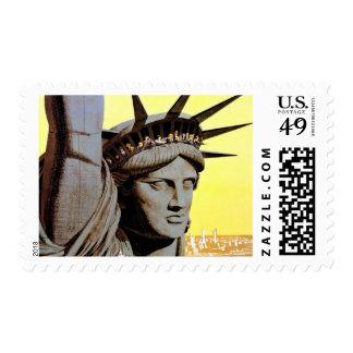 Statue of Liberty - New York City Travel Stamp