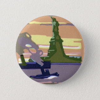 Statue of Liberty, New York City, Vintage Travel Button