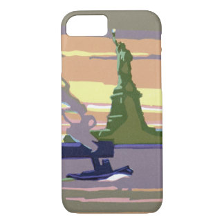 Statue of Liberty, New York City, Vintage Travel iPhone 8/7 Case