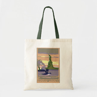 Statue of Liberty, New York City, Vintage Travel Tote Bag