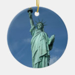 Statue of Liberty, New York Double-Sided Ceramic Round Christmas Ornament