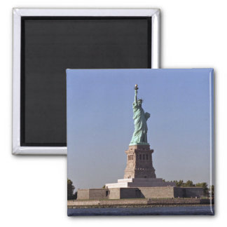 Statue of Liberty, New York Harbor, New York City, 2 Inch Square Magnet
