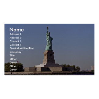 Statue of Liberty, New York Harbor, New York City, Double-Sided Standard Business Cards (Pack Of 100)