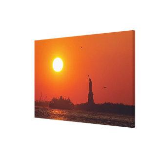 Statue of Liberty, New York Harbor, NY, USA, Canvas Print
