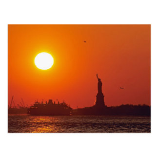 Statue of Liberty, New York Harbor, NY, USA, Postcard