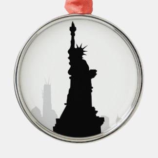 Statue of Liberty & New York Metal Ornament