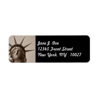 Statue of Liberty New York NY Return Address Label