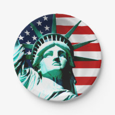 Statue of Liberty, New York Paper Plate