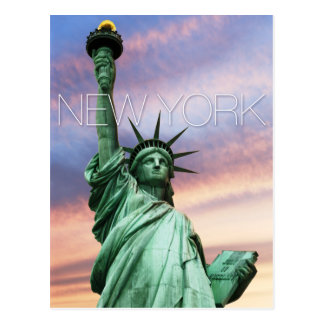 statue of liberty new york postcard