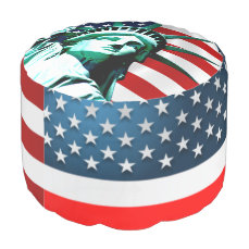Statue of Liberty, New York Pouf