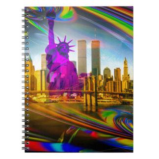 Statue OF Liberty New York Spiral Notebook