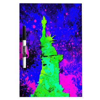 Statue of Liberty, New York Splash Painting Dry-Erase Board