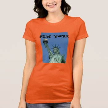 Statue Of Liberty - New York T-shirt by creativeconceptss at Zazzle