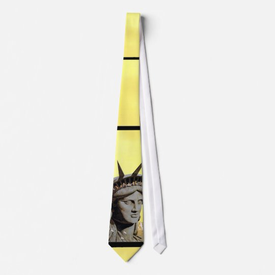 statue of liberty new york travel poster tie
