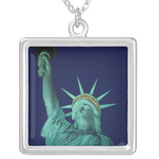 Statue of Liberty, New York, USA 5 Square Pendant Necklace
