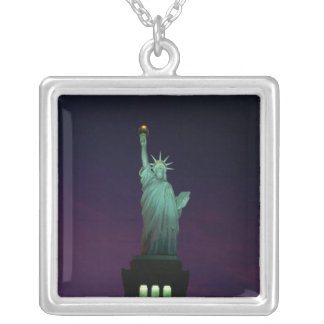 Statue of Liberty, New York, USA 7 Square Pendant Necklace