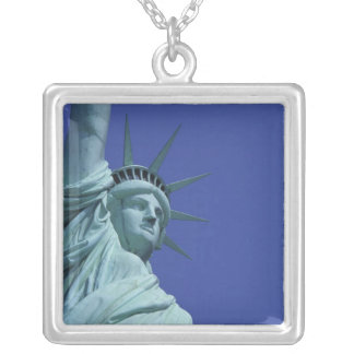 Statue of Liberty, New York, USA 9 Square Pendant Necklace