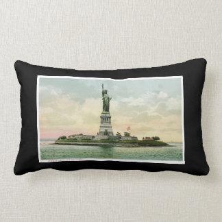 Statue of Liberty, New York. Vintage. Throw Pillows