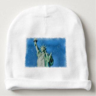Statue of liberty, New York watercolors painting Baby Beanie