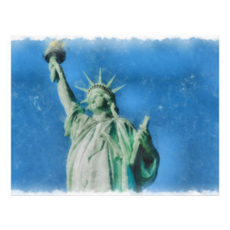 Statue of liberty, New York watercolors painting Flyer