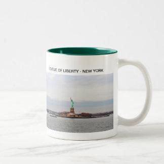 Statue of Liberty - NY New York Two-Tone Coffee Mug