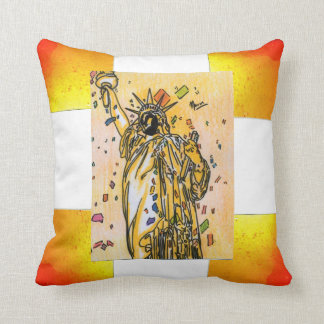 Statue of liberty NYC july 4th pillow