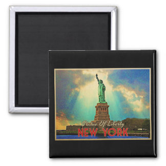 Statue Of Liberty NYC 2 Inch Square Magnet