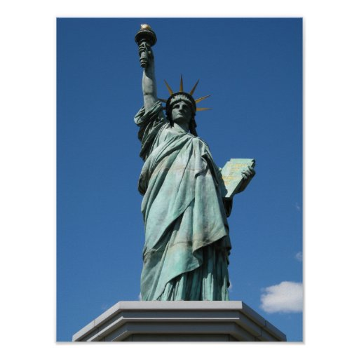 Statue of Liberty, Odaiba, Tokyo, Japan Poster