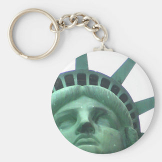 Statue of Liberty Oil Effect Keychain