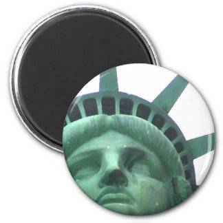 Statue of Liberty Oil Effect 2 Inch Round Magnet