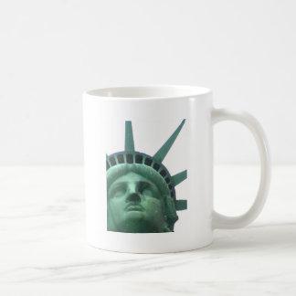 Statue of Liberty Oil Effect Classic White Coffee Mug