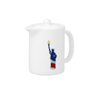 Statue Of Liberty On Any Color Teapot at Zazzle