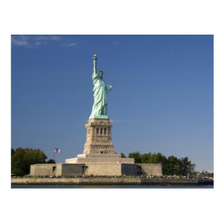 Statue of Liberty on Liberty Island in New 2 Postcard
