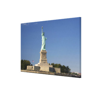 Statue of Liberty on Liberty Island in New Canvas Print