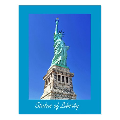 Statue of Liberty on Liberty Island in New York Postcards