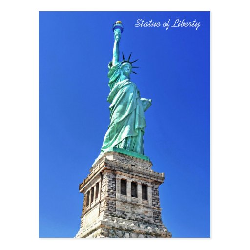 Statue of Liberty on Liberty Island in New York Post Cards
