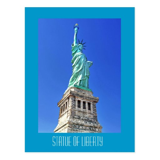 Statue of Liberty on Liberty Island in New York Post Card