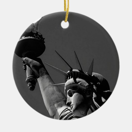 Statue of Liberty Double-Sided Ceramic Round Christmas Ornament