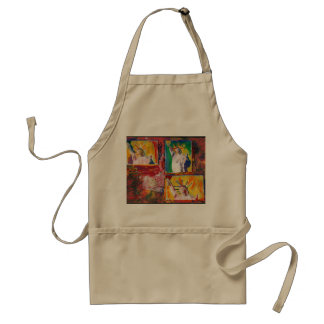 Statue of Liberty painting poster apron