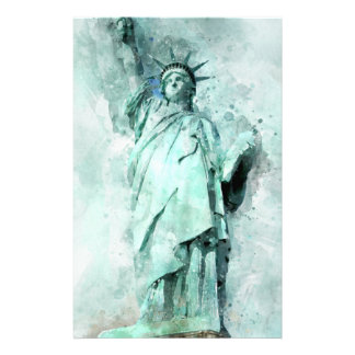 Statue of Liberty painting Stationery