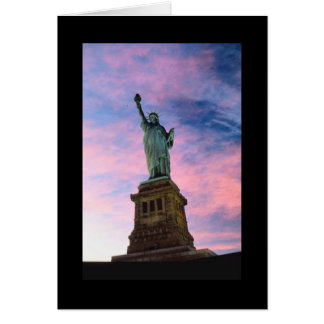 Statue of Liberty Pastel Sky Greeting Card