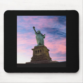 Statue of Liberty Pastel Sky Mouse Pad