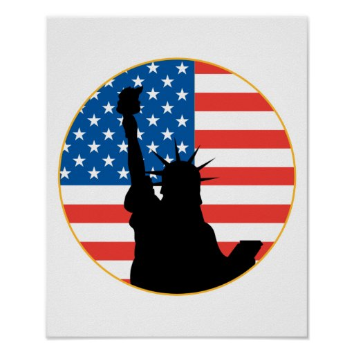 Statue Of Liberty Patriotic Design Print