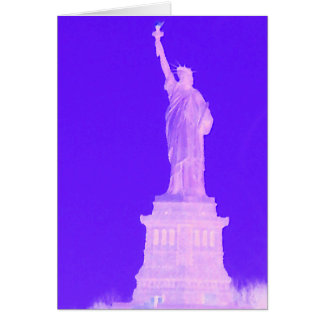 Statue of Liberty Patriotic USA America July 4th Greeting Card